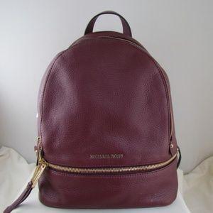 Michael Kors Oxblood Rhea MD LTR Backpack
